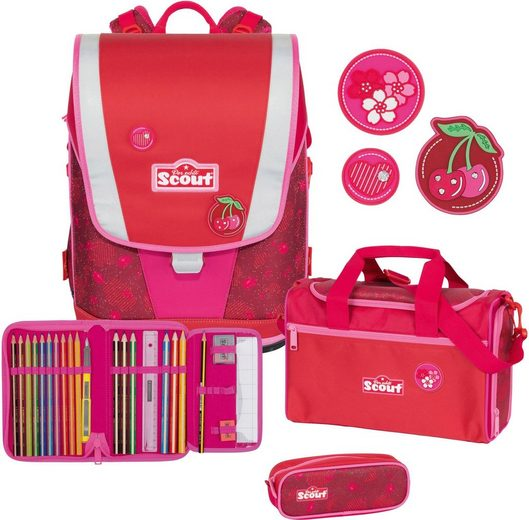 Scout Schulrucksack »Ultra, Cherry Red« (Set)