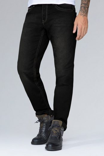 CAMP DAVID Comfort-fit-Jeans mit Used-Waschung