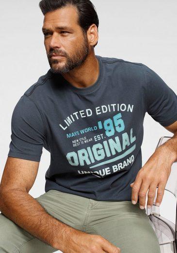 Man's World T-Shirt mit Frontprint