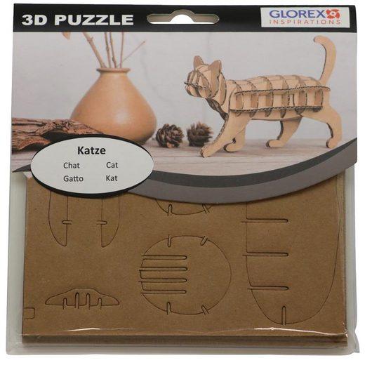 """3D-Puzzle """"Katze"""" Steckfigur 17cm"""
