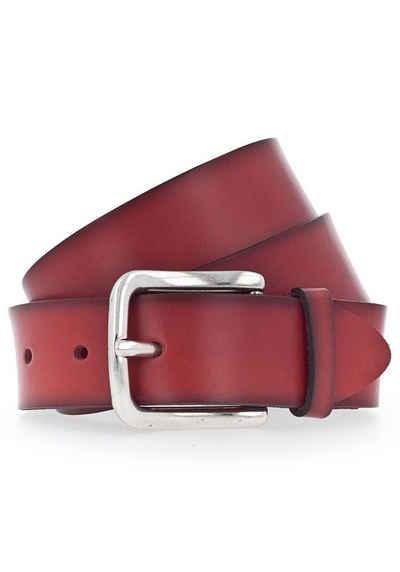 Vanzetti Ledergürtel Weiches Leder mit leichter Narbenstruktur