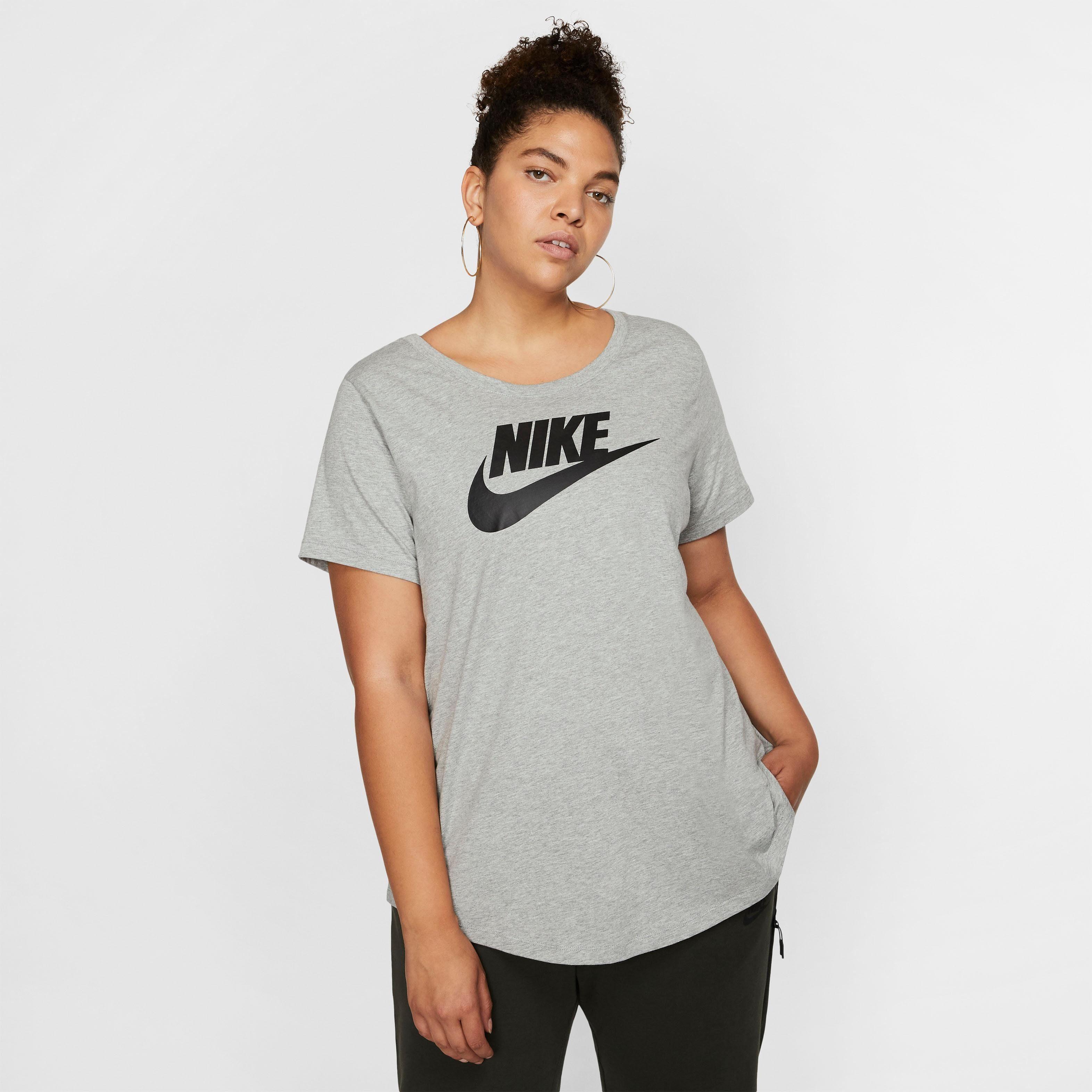 Shop den Nike Essential Futura Crop T Shirt Damen in Weiss