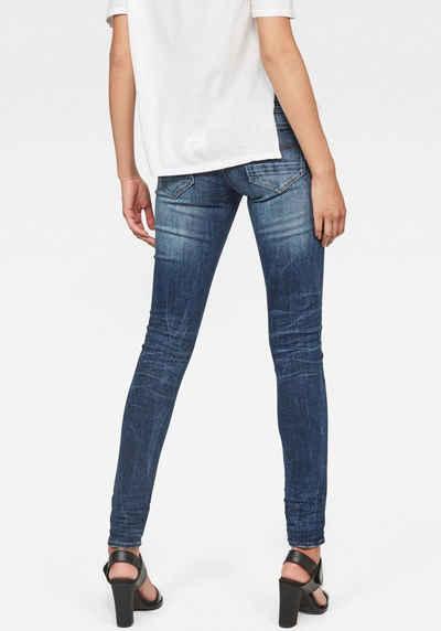 G Star RAW Straight Jeans »Midge Saddle Mid Straight« in coolen Waschungen