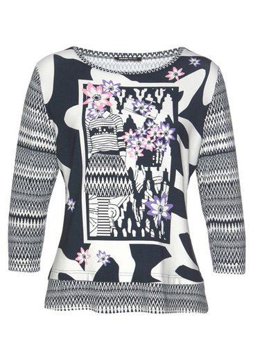 FRANK WALDER Print-Shirt mit feminienem Print