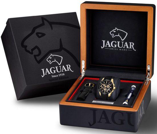 Jaguar Schweizer Uhr »Special Edition, J691/2«, (Set, 3-tlg., mit zusätzlichem Wechselband und Werkzeug)