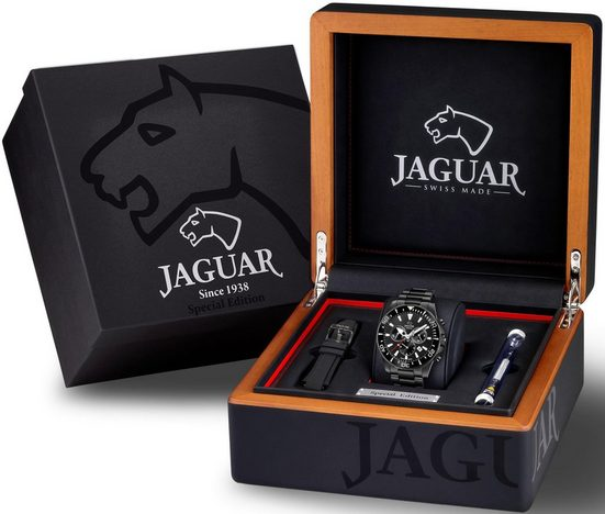 Jaguar Chronograph »Executive, J875/1«, (Set, 3-tlg., mit zusätzlichem Wechselband und Werkzeug)
