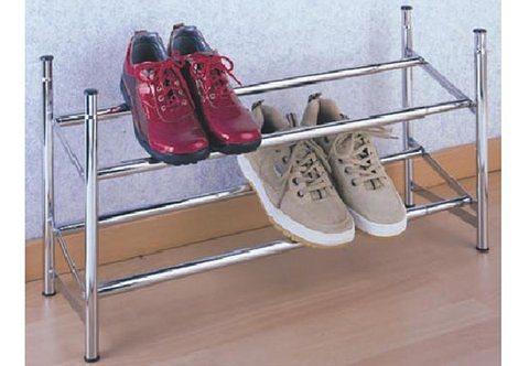 Schuhregal, Wenko, ausziehbar in silberfarben