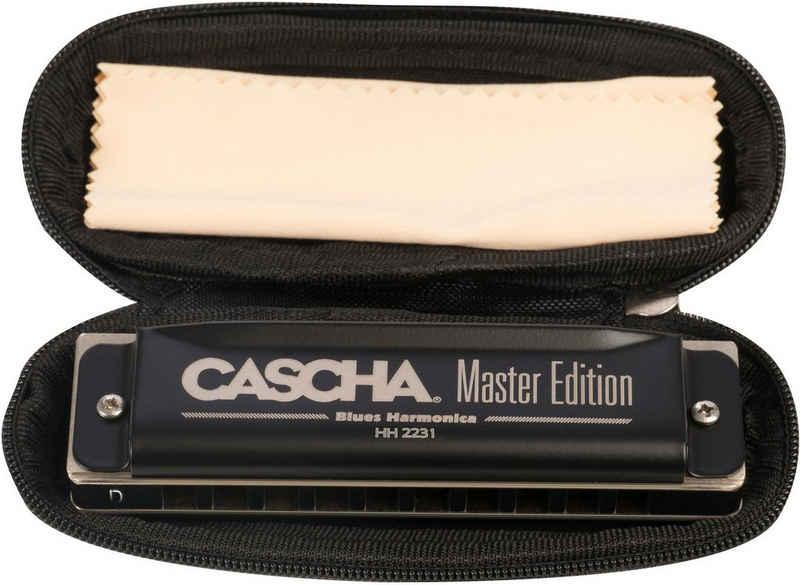 Cascha Mundharmonika »Master Edition Blues in D-Dur«, D, inkl. Soft Case und Pflegetuch