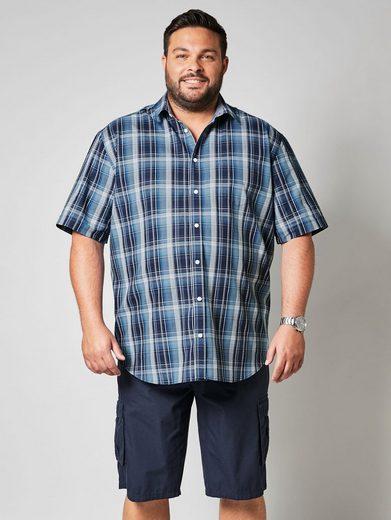Schlussverkauf Men Plus by Happy Size Kurzarmhemd mit Karomuster