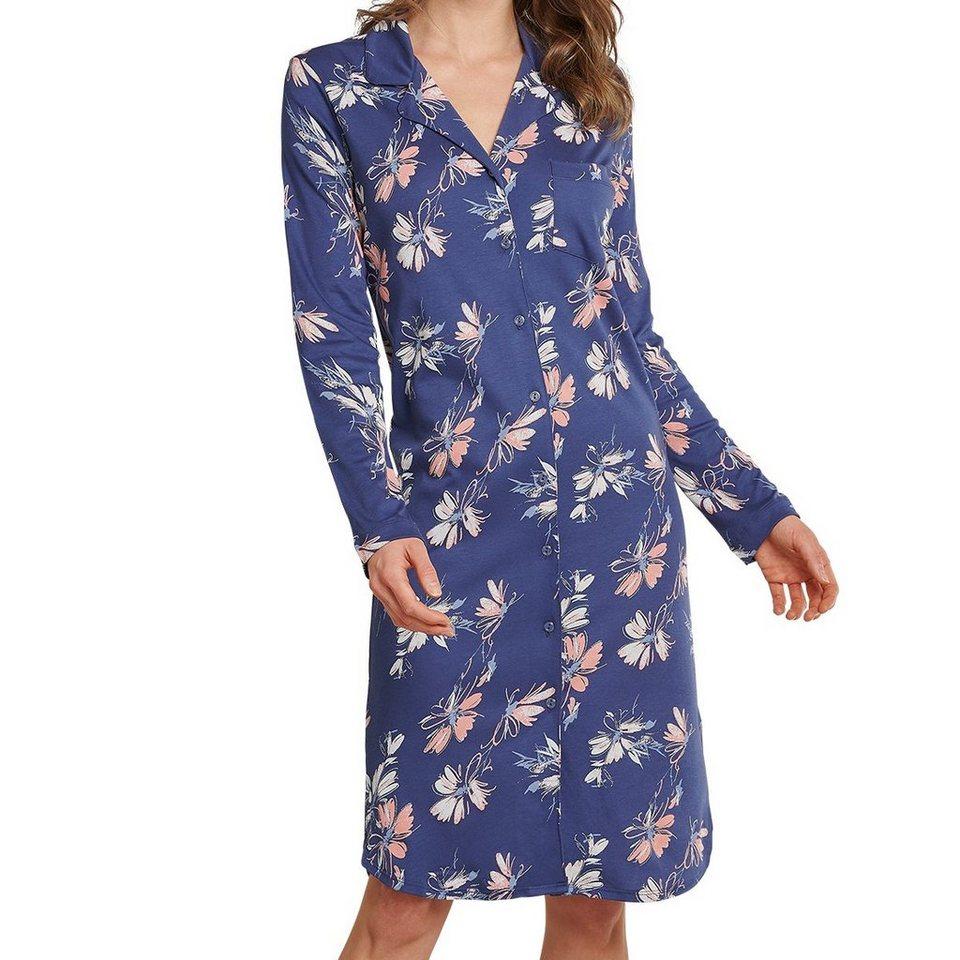schiesser nachthemd »selected premium nachthemd langarm 100 cm lang«  langarm online kaufen | otto