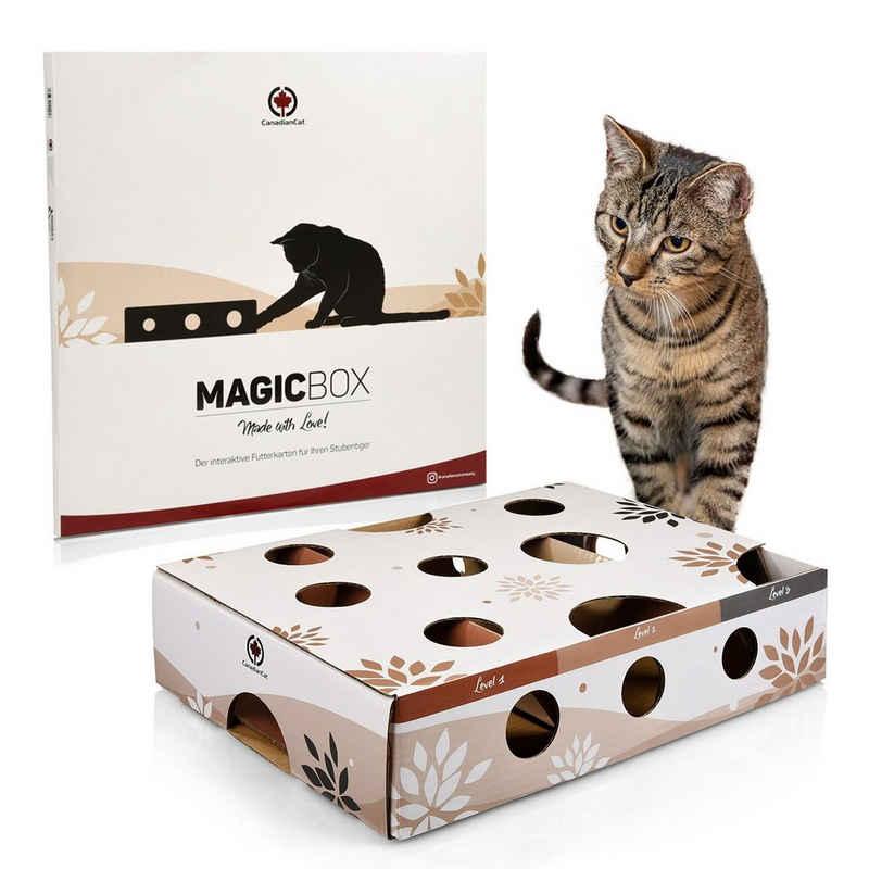 Canadian Cat Company Kratzpappe »Magicbox«, (Activitybox Intelligenzspielzeug Futterspiel Agility, Futterspiel Agility), Katzenspielzeug