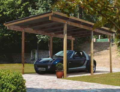 Karibu Einzelcarport »Eco 1«, 206 cm Einfahrtshöhe