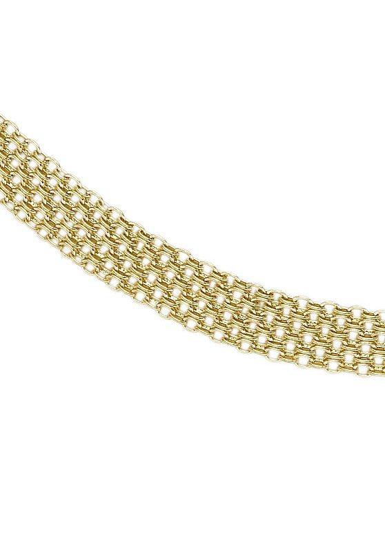 firetti Halsschmuck: Collier/Kette in Bismarckkettengliederung in Gold 333