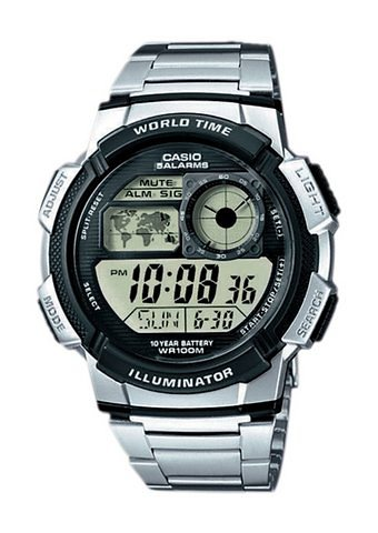 """Casio Collection, Armbanduhr, """"AE-1000WD-1AVEF"""" in silberfarben"""