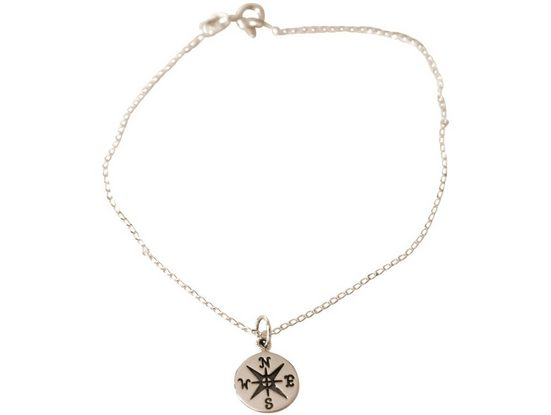 Gemshine Charm-Armband »Maritim WINDROSE KOMPASS mit NORDSTERN«, Made in Spain