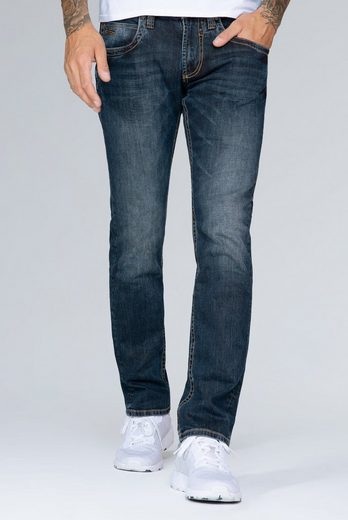 CAMP DAVID Regular-fit-Jeans mit 3D-Knittereffekten