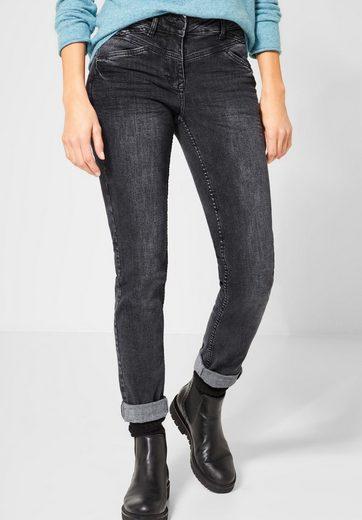 Cecil Slim-fit-Jeans im Used Look