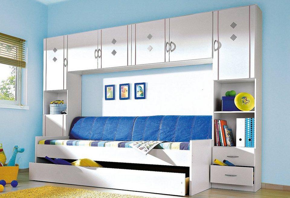 rauch Jugendzimmer mit Hängeschrank (4-tlg.) in weiß