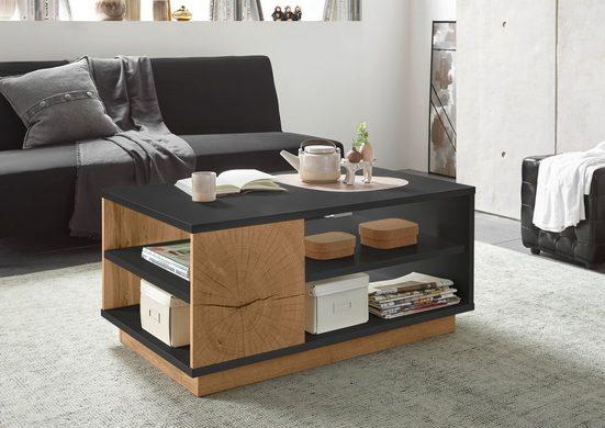 Places of Style Couchtisch »PALERMO«, im trendigen Design, mit 2 offenen Fächern