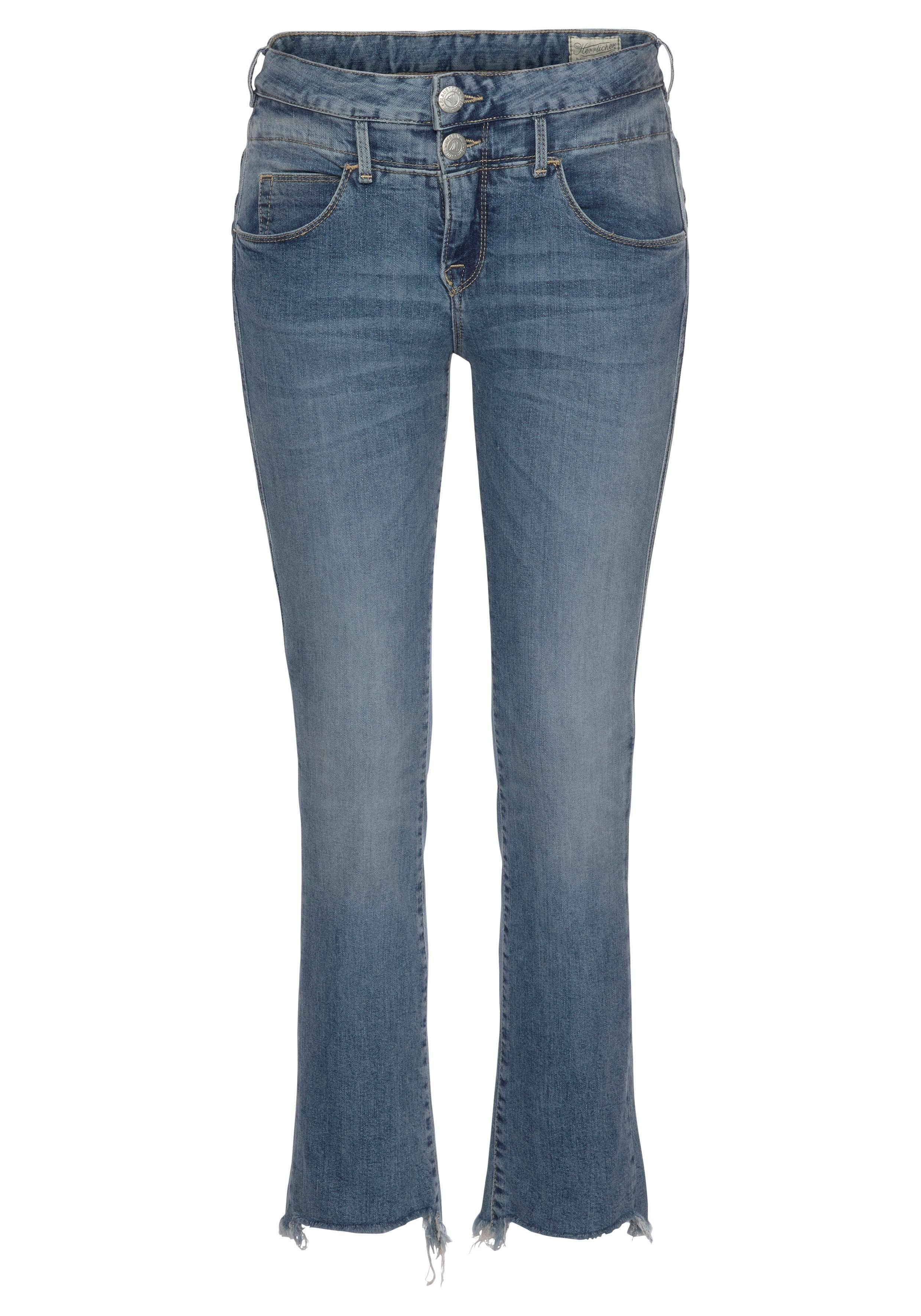 Herrlicher 7/8-Jeans BABY CROPPED mit doppeltem Cut-off Saum ziT308