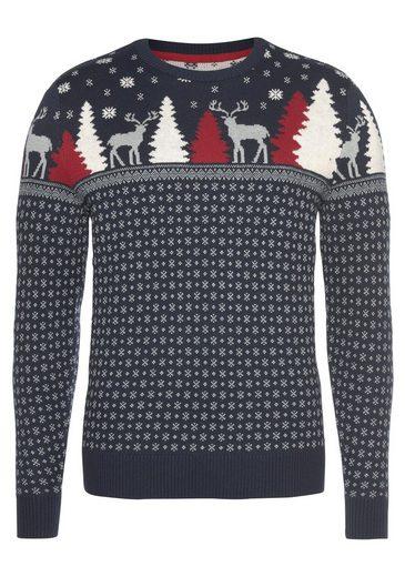 TOM TAILOR Strickpullover mit winterlichem Muster