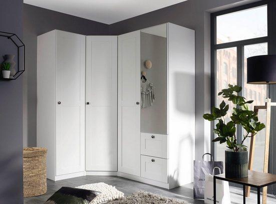 rauch Schrank-Set »Skagen«, (3-tlg), Eckschrank, 1- und 2-trg. Schrank mit Schubkästen und Spiegel