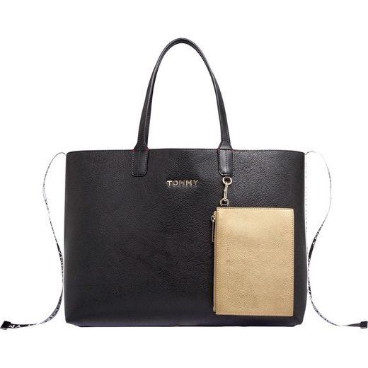 TOMMY HILFIGER Shopper »ICONIC TOMMY TOTE«, mit kleiner, abnehmbaren Reißverschluss-Tasche