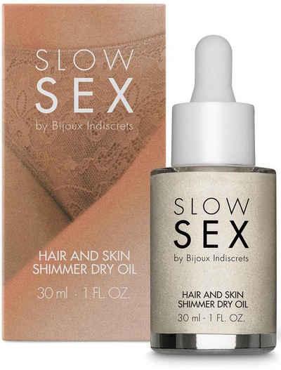Bijoux Indiscrets Körperöl »Hair and skin shimmer dry oil- Slow Sex«, glänzendes Trockenöl