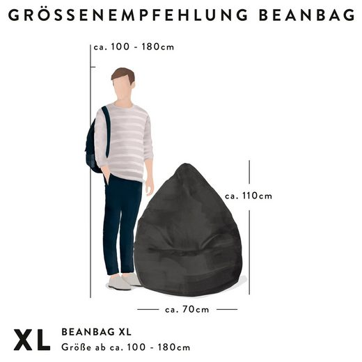 Sitting Point Sitzsack »BeanBag Goal XL« (1 St)  Digitaldruck