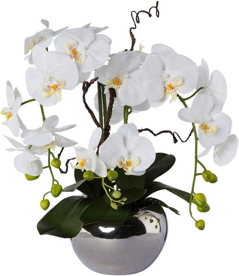 Kunstorchidee »Phalaenopsis«, Creativ green, Höhe 55 cm, im Keramiktopf