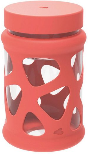 LEONARDO Thermobehälter »IN GIRO«, Glas, Silikon, (1-tlg), 760 ml, handgefertigtes Unikat