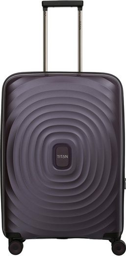 TITAN® Hartschalen-Trolley »Looping, 67 cm, Purple«, 4 Rollen