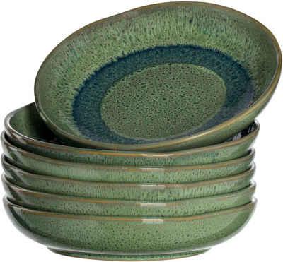 LEONARDO Suppenteller »Matera«, (6 Stück), Keramik, Ø 21 cm