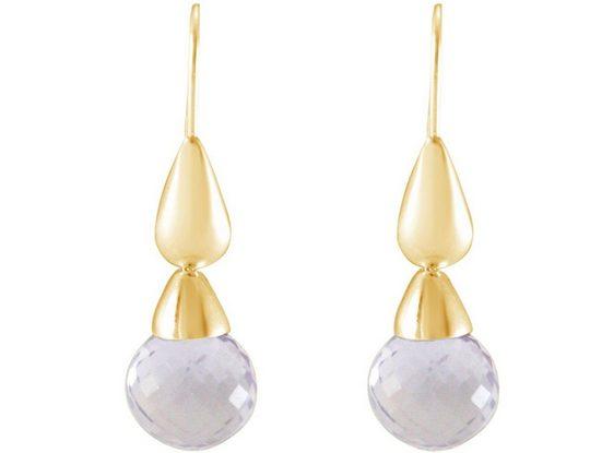 Gemshine Paar Ohrhänger »Amethyst Lavendel Tropfen«, Manufaktur mit natürlichen Edelsteinen