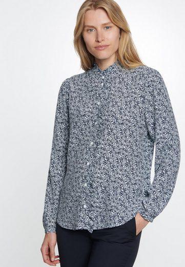 seidensticker Klassische Bluse »Schwarze Rose« Langarm Kragen Print