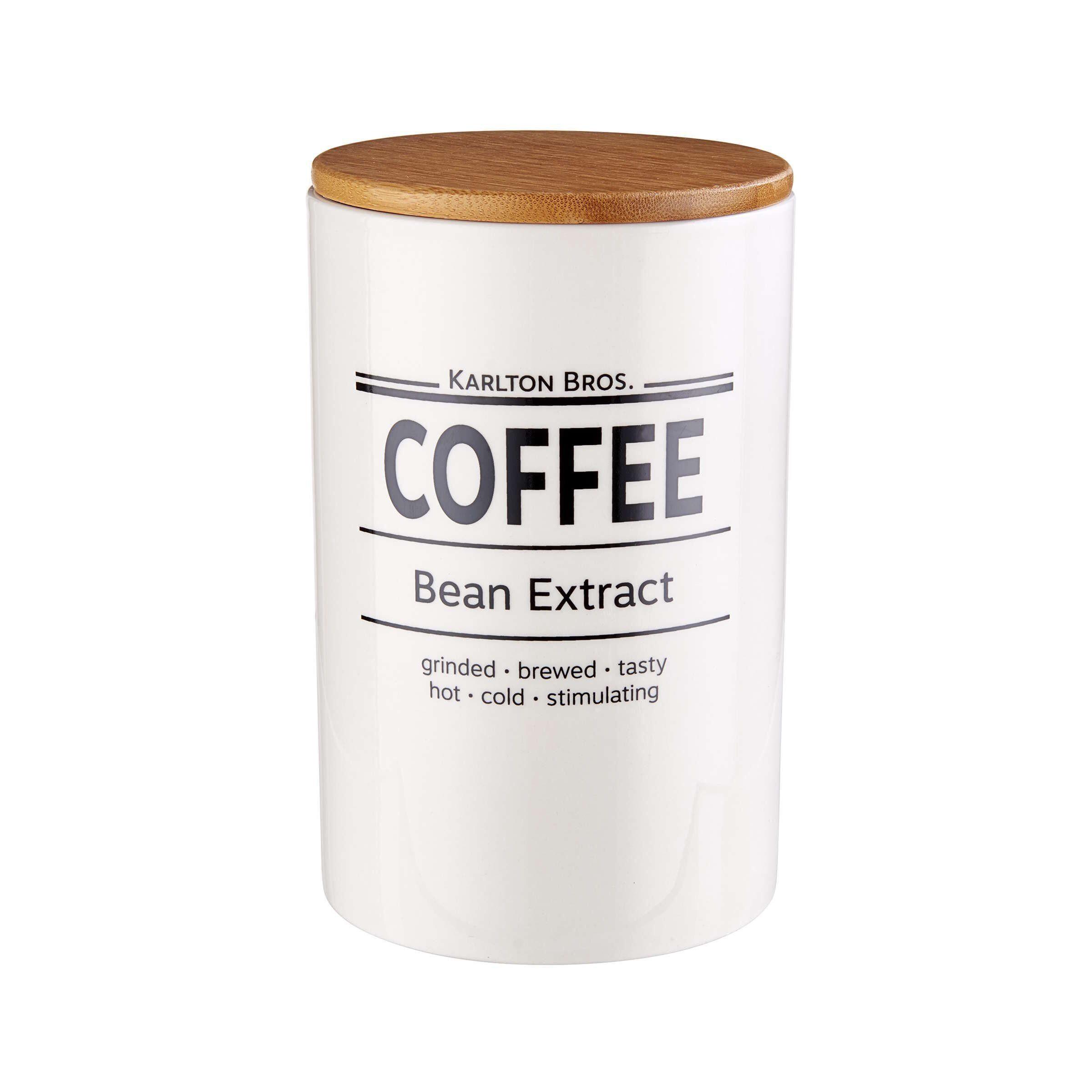 Kaffeepulver Aufbewahrungsdose Kaffee Dose /Ø 11,1 cm in Wei/ß BUTLERS Karlton Bros Moderne Vorratsdose aus Porzellan