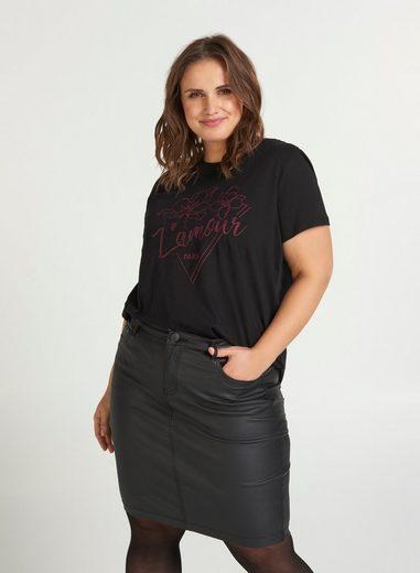 Zizzi T-Shirt Große Größen Damen kurzärmelig aus Baumwolle