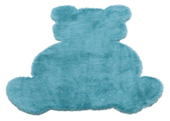 Kinderteppich »Teddy«, Lüttenhütt, Motivform, Höhe 25 mm, Kaninchenfell-Haptik, Motiv Teddy