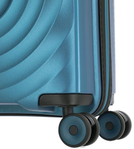 TITAN® Trolleyset »Looping  Petrol«  4 Rollen  (Set  3 tlg)