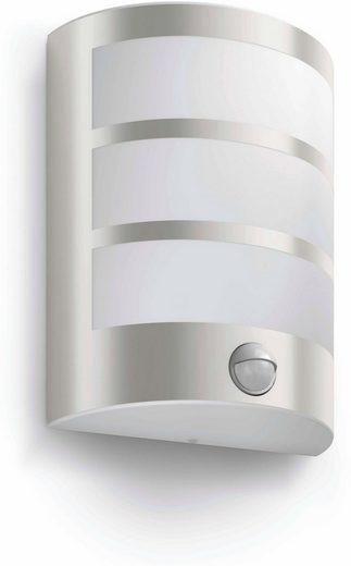 Philips LED Außen-Wandleuchte »myGarden Python 600lm, Edelstahl, Bewegungsmelder«, 1-flammig