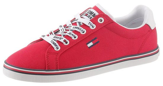 TOMMY JEANS »ESSENTIAL LACE UP SNEAKER« Sneaker mit Logoemblem