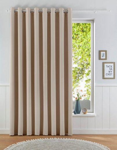 Verdunkelungsvorhang »Solana«, my home, Ösen (1 Stück), Vorhang, Fertiggardine, Gardine, Breite 280 cm, verdunkelnd
