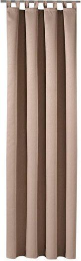 Vorhang »Jakob«, Gerster, Schlaufen (1 Stück), HxB: 235x140, Schlaufenschal mit Uniband, blickdicht
