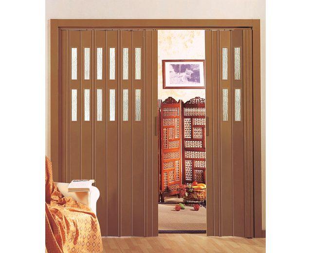 Kunststoff-Falttür »Luciana« Höhe nach Maß, kieferfarben(ohne Fenster)