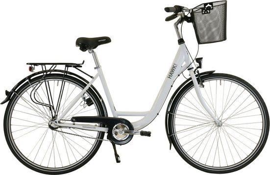 HAWK Bikes Cityrad »HAWK City Wave Premium Plus White«, 3 Gang Shimano Nexus Schaltwerk
