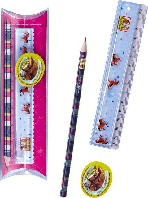 Kinderbettwäsche »Pferde«, Pferdefreunde, mit GRATIS-Zugabe: Pferdefreunde Lineal-Set | Kinderzimmer > Textilien für Kinder > Kinderbettwäsche | Baumwolle | Pferdefreunde