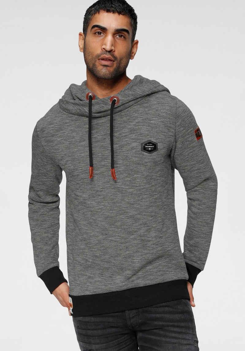 Cipo & Baxx Kapuzensweatshirt in melierter Optik