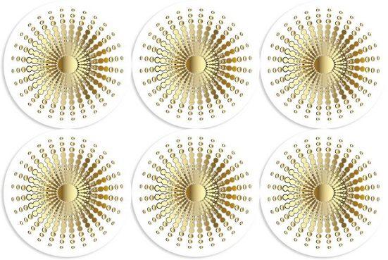queence Getränkeuntersetzer GC0131, Set, 6-tlg., aus Acrylglas