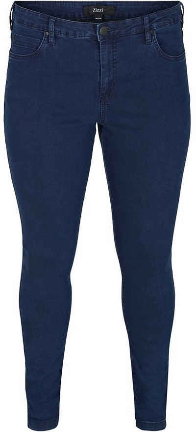 Zizzi Slim-fit-Jeans »Amy« in Baumwoll-Stretch