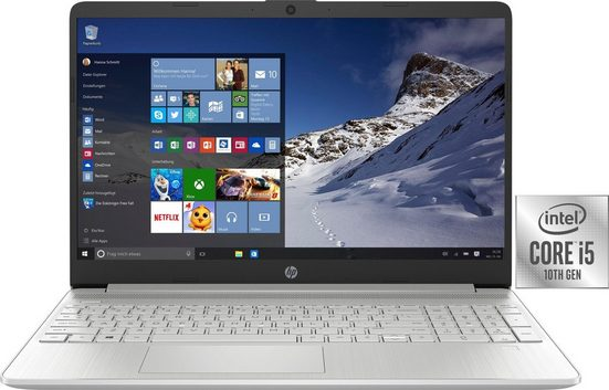 HP 15s-fq1251ng Notebook (39,6 cm/15,6 Zoll, Intel Core i5, UHD Graphics, 256 GB SSD, inkl. Office-Anwendersoftware Microsoft 365 Single im Wert von 69 Euro)